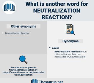 neutralization reaction, synonym neutralization reaction, another word for neutralization reaction, words like neutralization reaction, thesaurus neutralization reaction