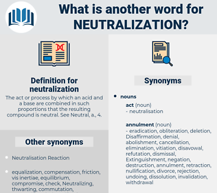 neutralization, synonym neutralization, another word for neutralization, words like neutralization, thesaurus neutralization