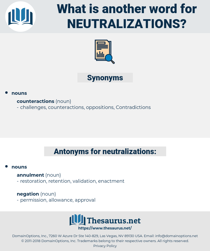 neutralizations, synonym neutralizations, another word for neutralizations, words like neutralizations, thesaurus neutralizations