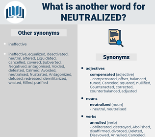 neutralized, synonym neutralized, another word for neutralized, words like neutralized, thesaurus neutralized