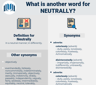 Neutrally, synonym Neutrally, another word for Neutrally, words like Neutrally, thesaurus Neutrally