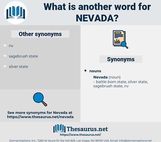 nevada, synonym nevada, another word for nevada, words like nevada, thesaurus nevada