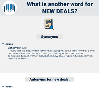 new deals, synonym new deals, another word for new deals, words like new deals, thesaurus new deals