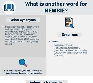 newbie, synonym newbie, another word for newbie, words like newbie, thesaurus newbie