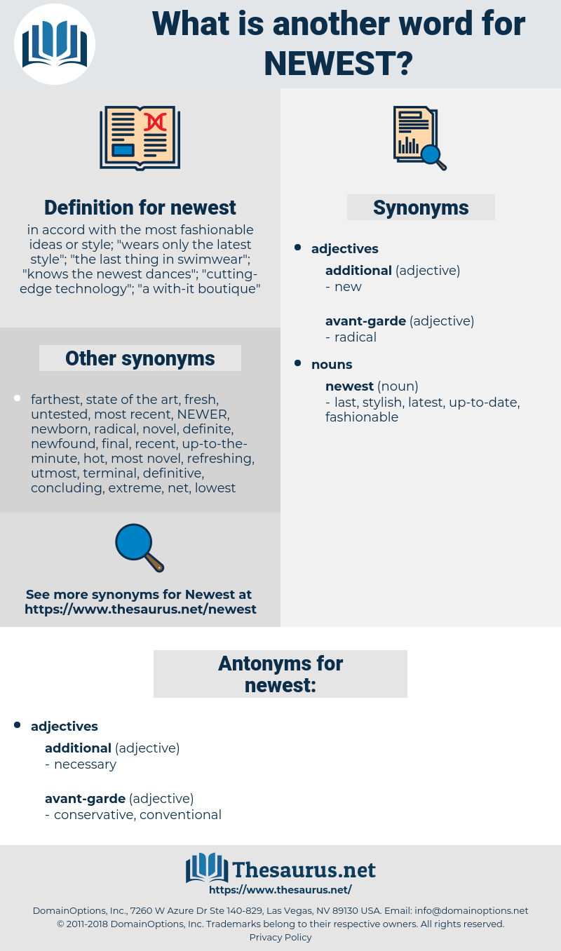 Synonyms For Newest Antonyms For Newest Thesaurus Net