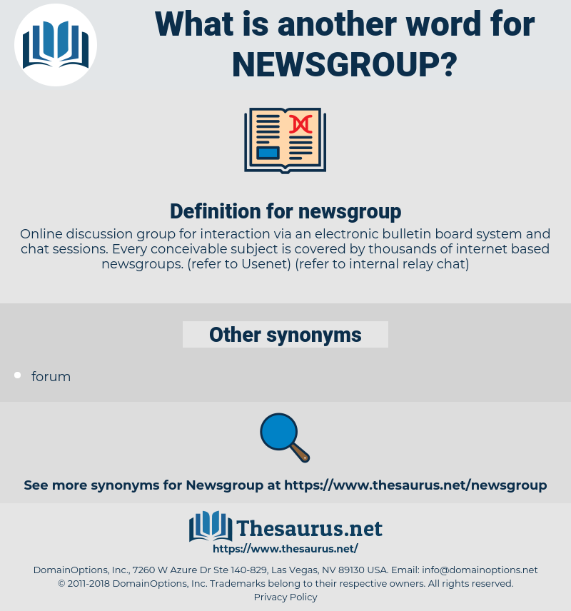 Synonyms for NEWSGROUP - Thesaurus net