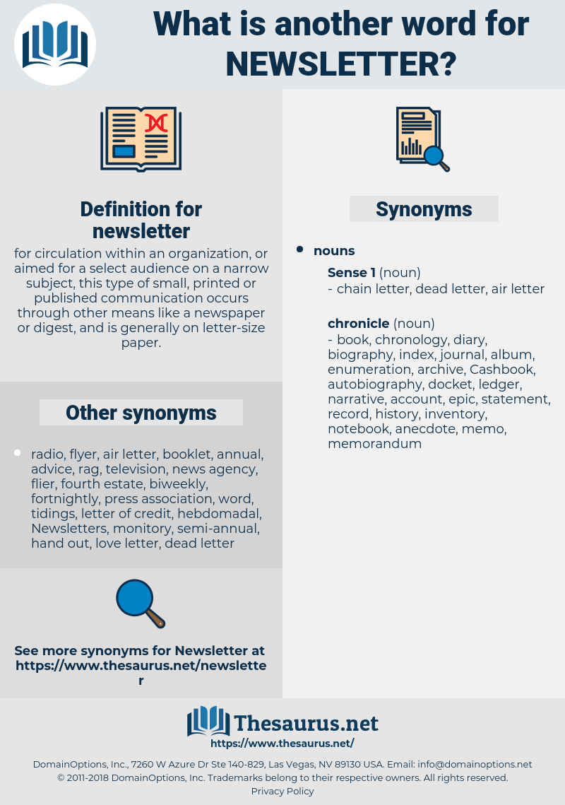 newsletter, synonym newsletter, another word for newsletter, words like newsletter, thesaurus newsletter
