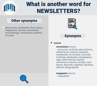 Newsletters, synonym Newsletters, another word for Newsletters, words like Newsletters, thesaurus Newsletters