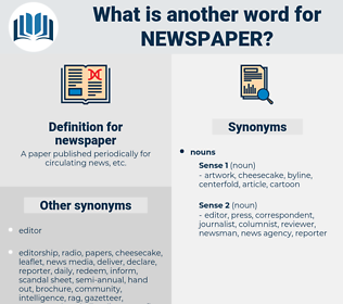 newspaper, synonym newspaper, another word for newspaper, words like newspaper, thesaurus newspaper
