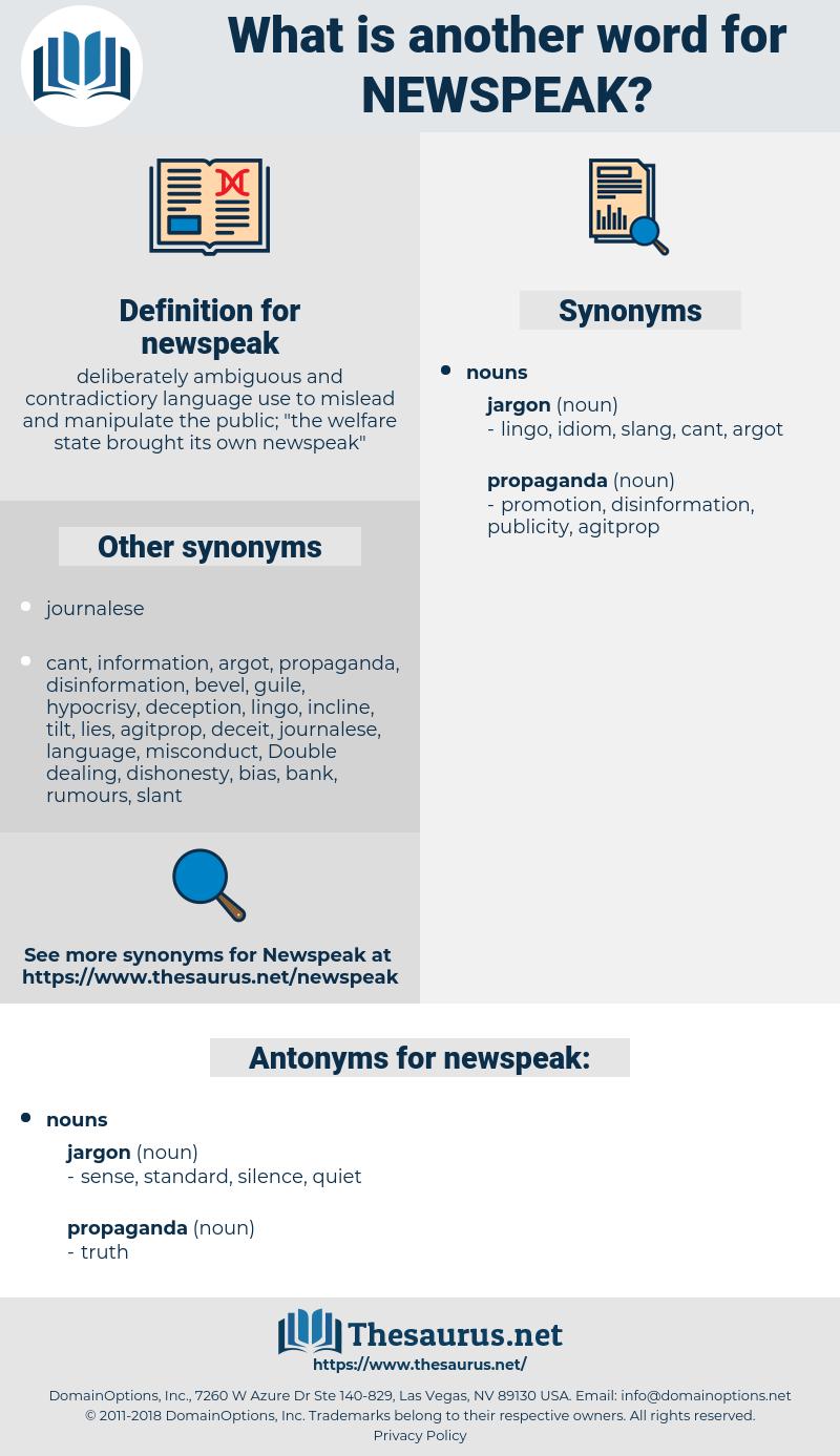 newspeak, synonym newspeak, another word for newspeak, words like newspeak, thesaurus newspeak