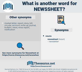 newssheet, synonym newssheet, another word for newssheet, words like newssheet, thesaurus newssheet