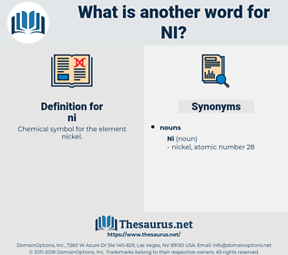 ni, synonym ni, another word for ni, words like ni, thesaurus ni