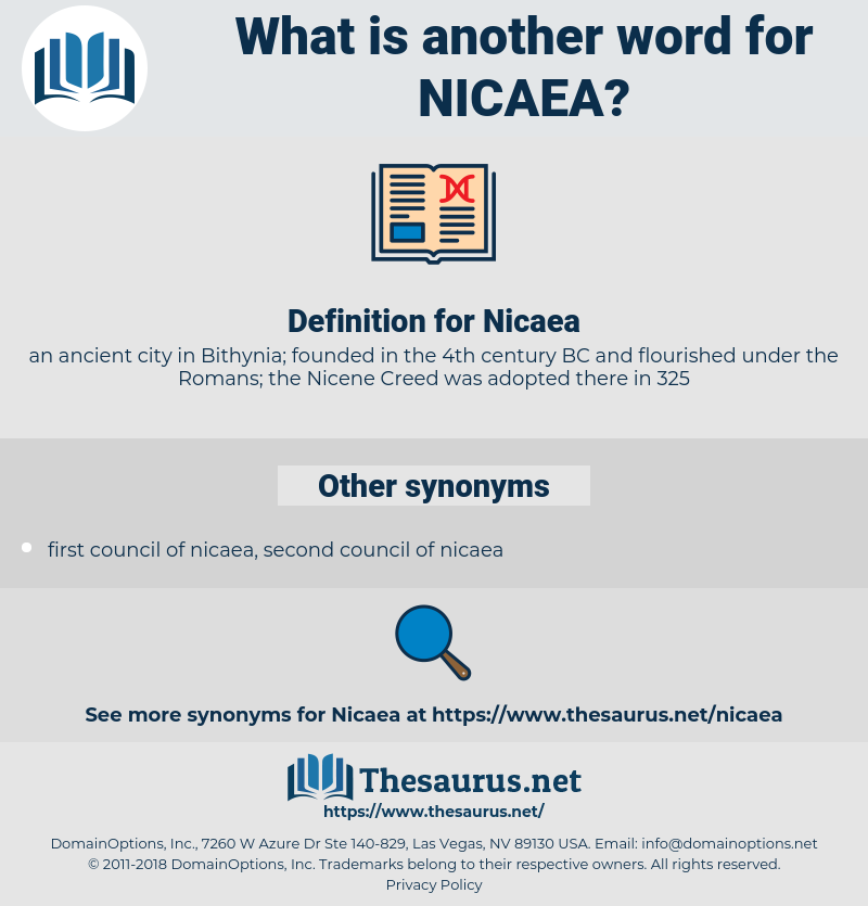 Nicaea, synonym Nicaea, another word for Nicaea, words like Nicaea, thesaurus Nicaea