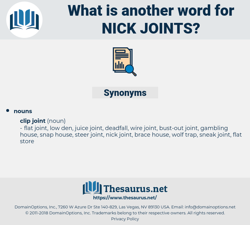 nick joints, synonym nick joints, another word for nick joints, words like nick joints, thesaurus nick joints