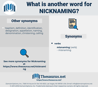 Nicknaming, synonym Nicknaming, another word for Nicknaming, words like Nicknaming, thesaurus Nicknaming