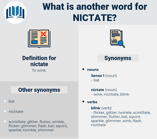 nictate, synonym nictate, another word for nictate, words like nictate, thesaurus nictate
