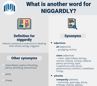 niggardly, synonym niggardly, another word for niggardly, words like niggardly, thesaurus niggardly