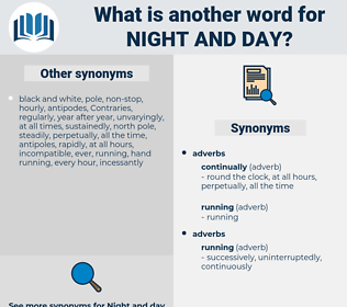 night and day, synonym night and day, another word for night and day, words like night and day, thesaurus night and day