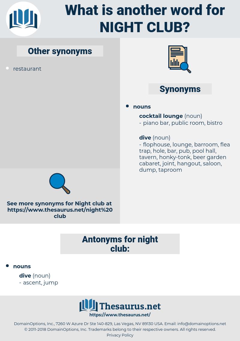 night club, synonym night club, another word for night club, words like night club, thesaurus night club