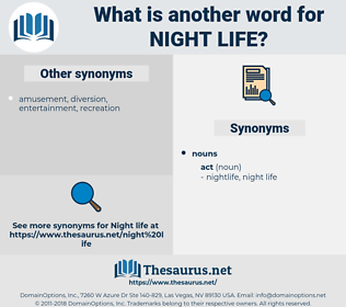 night life, synonym night life, another word for night life, words like night life, thesaurus night life