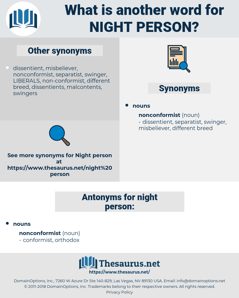 night person, synonym night person, another word for night person, words like night person, thesaurus night person