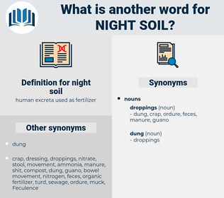 night soil, synonym night soil, another word for night soil, words like night soil, thesaurus night soil