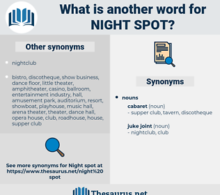 night spot, synonym night spot, another word for night spot, words like night spot, thesaurus night spot