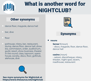 nightclub, synonym nightclub, another word for nightclub, words like nightclub, thesaurus nightclub
