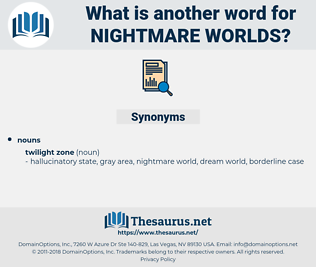 nightmare worlds, synonym nightmare worlds, another word for nightmare worlds, words like nightmare worlds, thesaurus nightmare worlds