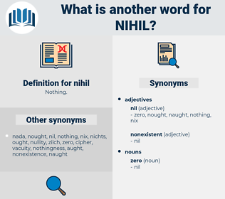 nihil, synonym nihil, another word for nihil, words like nihil, thesaurus nihil