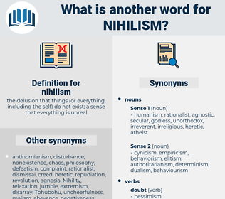 nihilism, synonym nihilism, another word for nihilism, words like nihilism, thesaurus nihilism