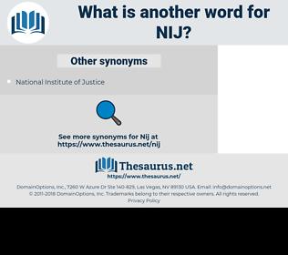 NIJ, synonym NIJ, another word for NIJ, words like NIJ, thesaurus NIJ