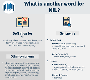nil, synonym nil, another word for nil, words like nil, thesaurus nil
