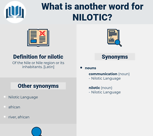 nilotic, synonym nilotic, another word for nilotic, words like nilotic, thesaurus nilotic
