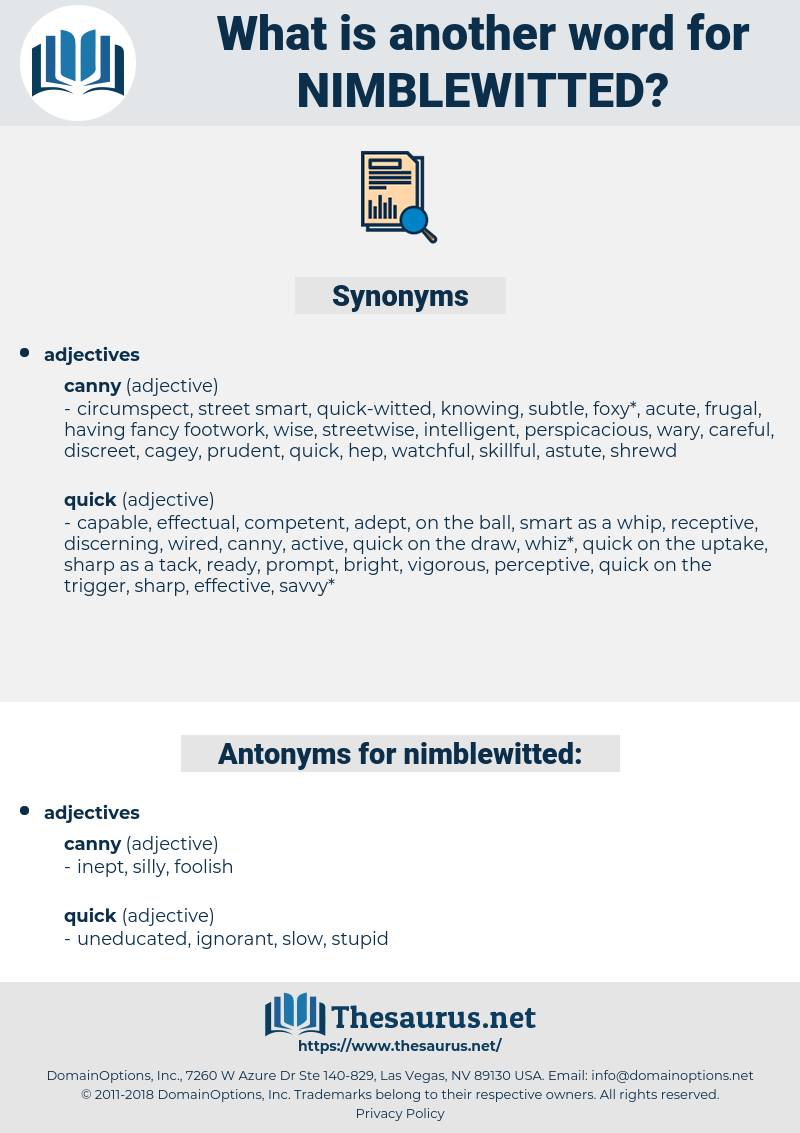 nimblewitted, synonym nimblewitted, another word for nimblewitted, words like nimblewitted, thesaurus nimblewitted