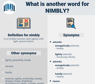 nimbly, synonym nimbly, another word for nimbly, words like nimbly, thesaurus nimbly