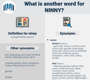 ninny, synonym ninny, another word for ninny, words like ninny, thesaurus ninny