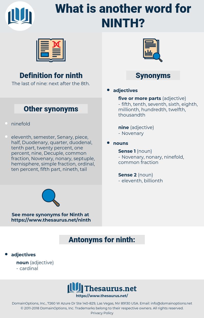 ninth, synonym ninth, another word for ninth, words like ninth, thesaurus ninth