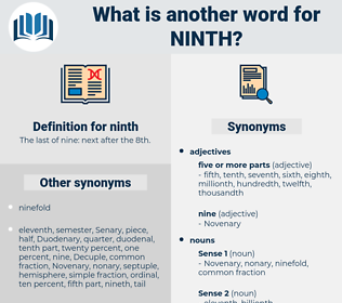 ninth, synonym ninth, another word for ninth, words like ninth, thesaurus ninth