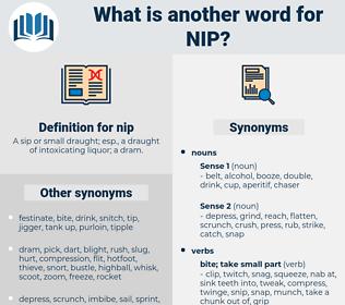 nip, synonym nip, another word for nip, words like nip, thesaurus nip