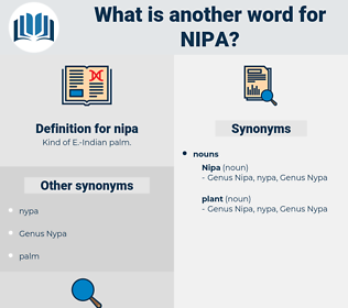 nipa, synonym nipa, another word for nipa, words like nipa, thesaurus nipa