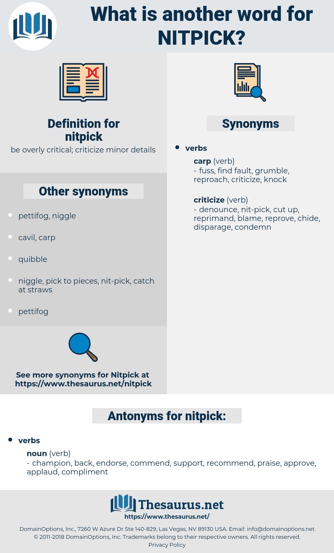 nitpick, synonym nitpick, another word for nitpick, words like nitpick, thesaurus nitpick