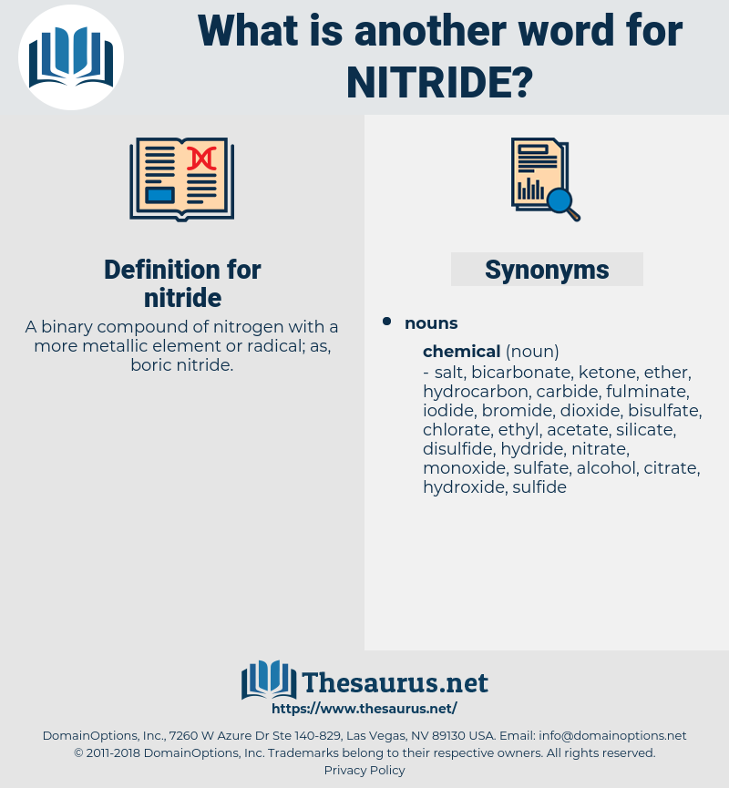nitride, synonym nitride, another word for nitride, words like nitride, thesaurus nitride