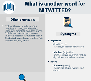 nitwitted, synonym nitwitted, another word for nitwitted, words like nitwitted, thesaurus nitwitted