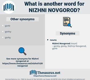 Nizhni Novgorod, synonym Nizhni Novgorod, another word for Nizhni Novgorod, words like Nizhni Novgorod, thesaurus Nizhni Novgorod