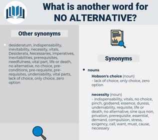 no alternative, synonym no alternative, another word for no alternative, words like no alternative, thesaurus no alternative
