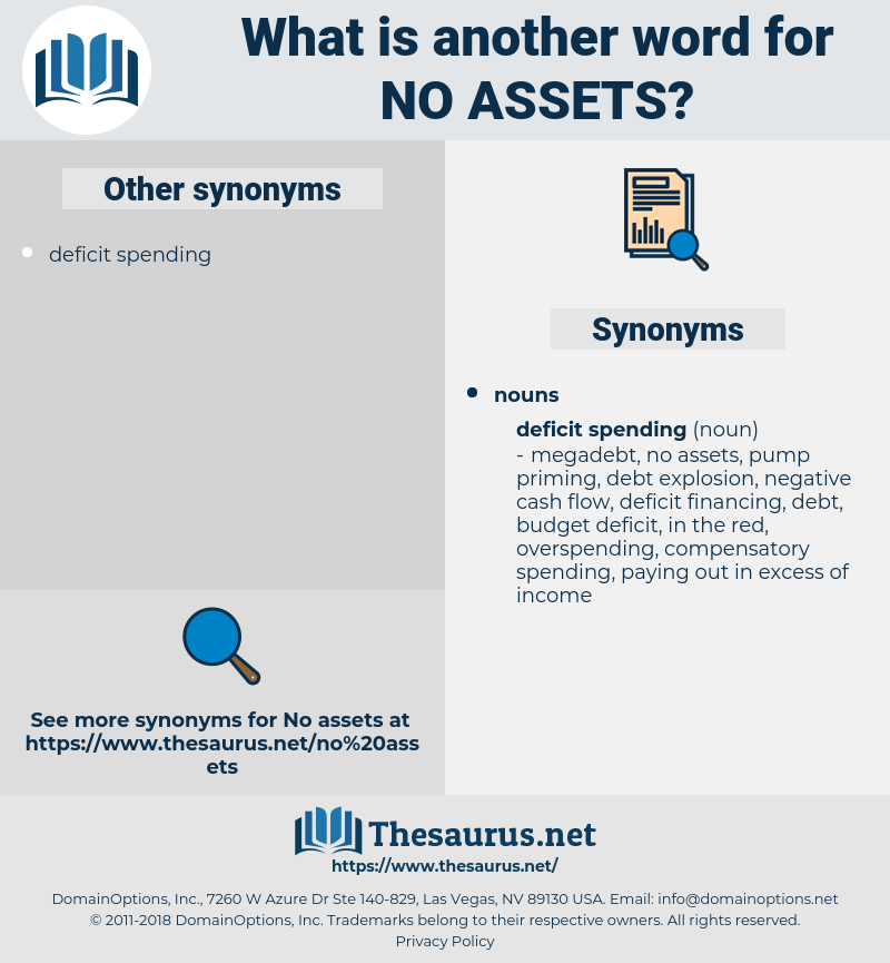 no assets, synonym no assets, another word for no assets, words like no assets, thesaurus no assets