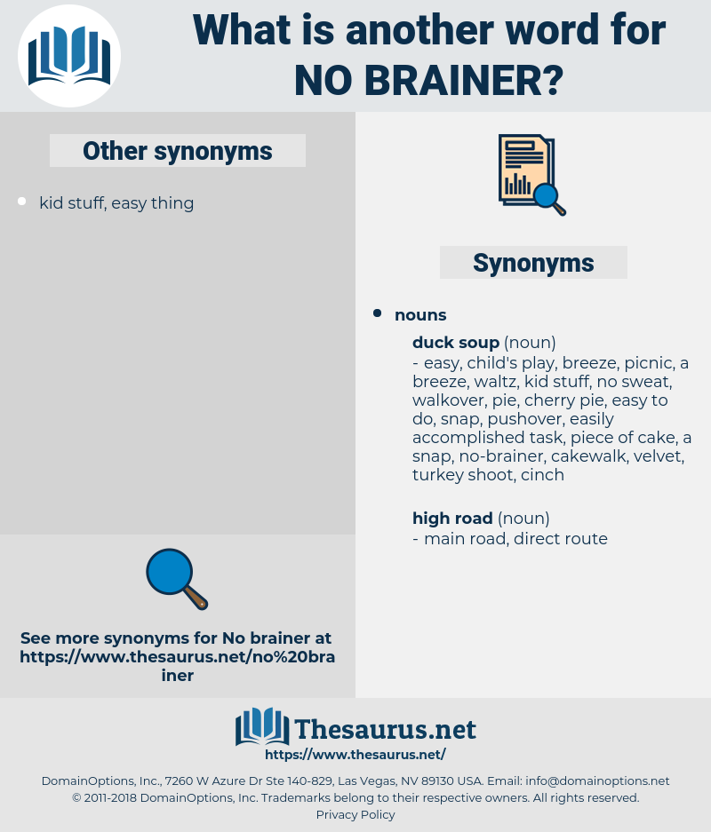 no brainer, synonym no brainer, another word for no brainer, words like no brainer, thesaurus no brainer