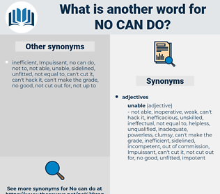 no can do, synonym no can do, another word for no can do, words like no can do, thesaurus no can do