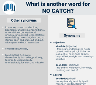 no catch, synonym no catch, another word for no catch, words like no catch, thesaurus no catch